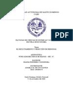 -El reclutamiento y selección de personal 123.docx