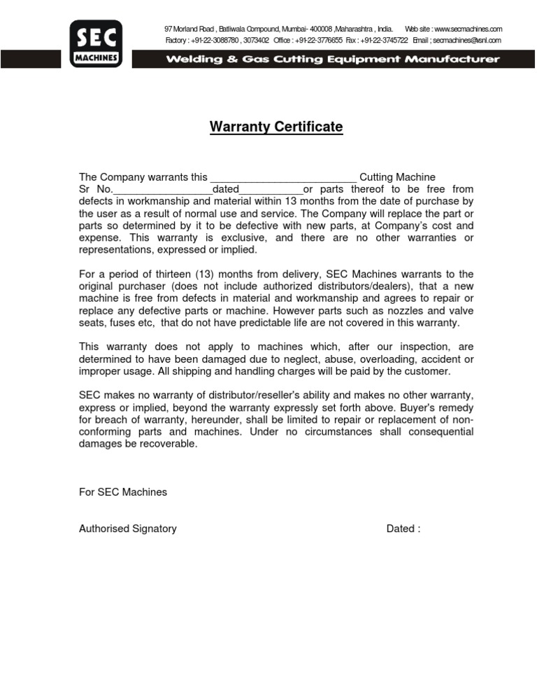 Warranty format yelopaper Image collections