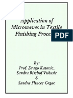 Application of microwaves in textile finishing processes