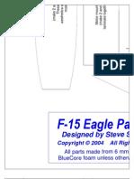 F-15 Park Jet Plans (Parts Templates Tiled)