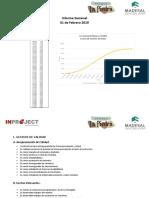 Informe Semanal 01 de Febrero del 2019 Parque la Piedra