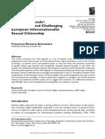 Ammaturo, Francesca, 2015, The 'Pink Agenda'- Questioning and Challenging European Homonationalist Sexual Citizenship.pdf