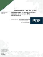 Modélisation en UML-OCL des langages de programmation - vers un processus IDM incrémental