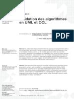 Validation des algorithmes en UML et OCL
