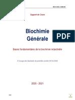 Cours de Biochimie générale _2020-2021_version étudiant