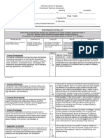 pre-student teaching evaluation form
