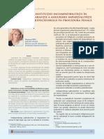 5. Reflectii asupra institutiei incompatibilitatii in calitatea sa de garantie