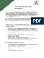 FICHA Y REQUISITOS ARRENDATARIO
