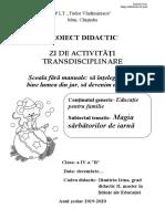 Zi de activități trasndisciplinare -Magia sărbătorilor de iarnă. DIMITRIU IRINA (1).doc