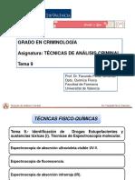 Tema 9_TAC_Tecnicas Espectroscopia molecular