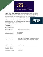 B&B Agro India Enterprises Profile