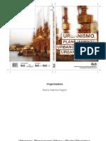 Urbanismo, Planejamento Urbano e Direito Urbanístico