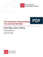 Hope Economic Consequences of Major Tax Cuts Published