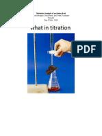 titrimetric analysis of an amino acid