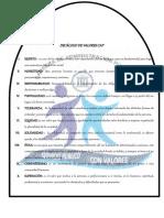 DECÁLOGO DE VALORES CAP