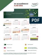 Calendario Unadm 2021