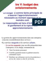 Chapitre v Budget Approvisionnement (1)