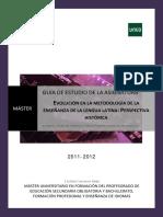Guía evolución metodología enseñanza latín