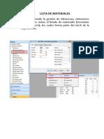 Laboratorio  Lista de Materiales T5-2020