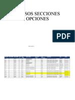 CURSOS SECCIONES OPCIONES