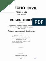 DE LOS BIENES, ARTURO ALESSANDRI RODRIGUEZ