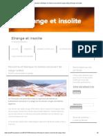 Rarissime et féérique_ le Sahara recouvert de neige (vidéo) _ Etrange et Insolite