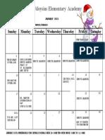Jan. 2021 Calendar