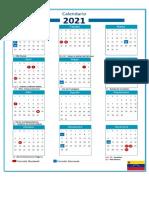 Calendario de feriados bancarios y nacionales 2021