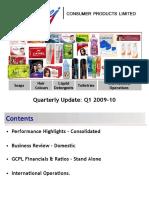 Q1 2009-10 Performance Update GCPL