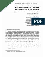 Amodio, Emanuele - Geografía temprana de la caña de Azúcar en Venezuela (siglo XVI)