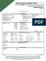 Koby Francis 2017 Arrest Court Docket