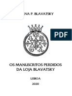 Os Manuscritos Perdidos Da Loja Blavatsky - [Helena P. Blavatsky]