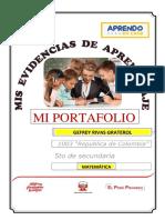 Portafolio de Matemática 5to de Gefrey Rivas Graterol Ccesa007