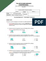 TALLER MATEMATICAS 1 - FRACCIONES, DECIMALES-SOLUCION-convertido