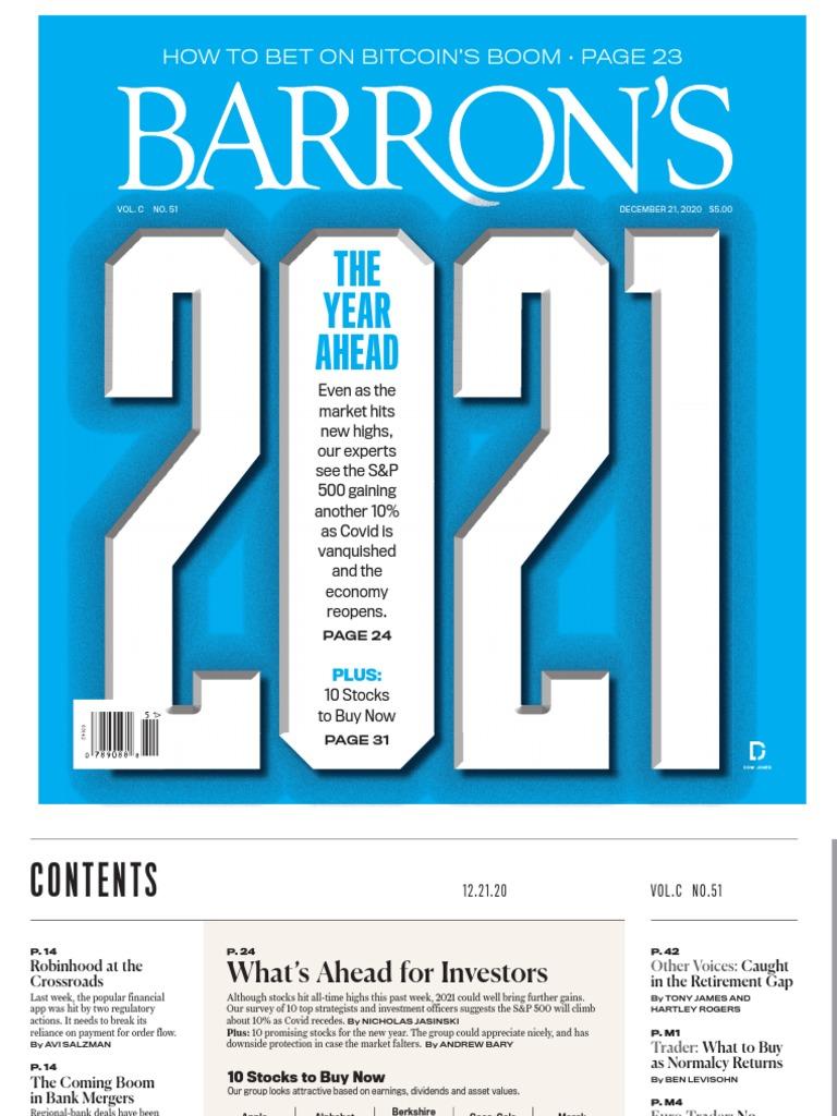Barrons 2020 12 21 Pnc Financial Services Finance Money Management