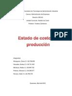 Estados de Costo de Produccion Trabajo