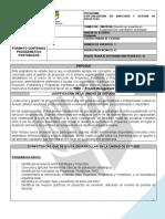 CONTENIDO PROGRAMATICO PLANIFICACION EMPRESARIAL ORIENTADA A PROYECTOS