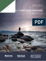 2010 - 2011 Mentor & Christian Heritage Catalog