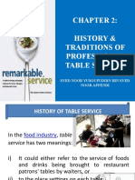 Chapter 2 - The History and Traditions of Professional Table Service