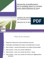 Démarche d'amélioration de la mobilité dans le corridor entre Saint-Étienne et Lyon