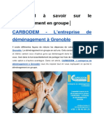 L'essentiel à savoir sur le déménagement en groupe│CARBODEM – L'entreprise de déménagement à Grenoble