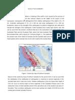 Executive Summary Earthquake and Tsunami.docx
