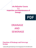 Insp and maint. of sewarage and drainage