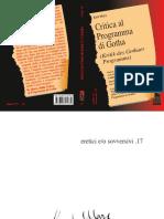 Karl Marx Critica Del Programma Di Gotha