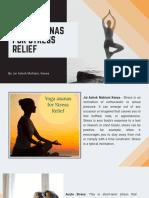 Yoga Asanas for Stress Relief - Jai Ashok Mahtani Kenya