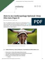 Anthropology Optional- Paper II Strategy by Anudeep IAS Rank 1