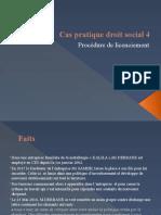 Cas pratique droit social 4