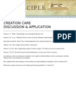 Creation Care Discussion and Application