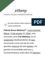 Pat Metheny - Wikipedia, la enciclopedia libre