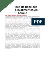 Principes de Base Des Appareils Alimentés en Boucle